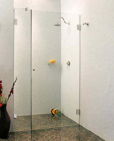 a1n nischen t ren duschabtrennung ab 100 glas klar verchromt h 195cm. Black Bedroom Furniture Sets. Home Design Ideas