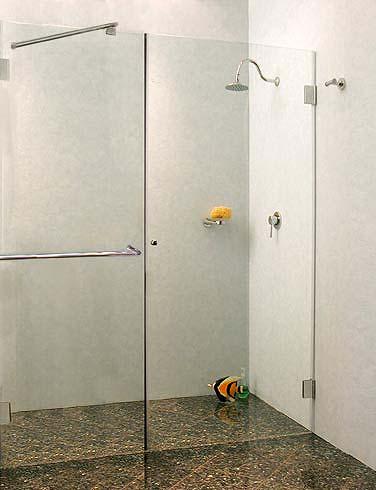 a1x nischen t ren duschabtrennung glas klar verchromt. Black Bedroom Furniture Sets. Home Design Ideas