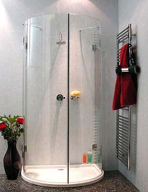 a2h halbkreis rund duschkabine 2 t ren glas klar. Black Bedroom Furniture Sets. Home Design Ideas