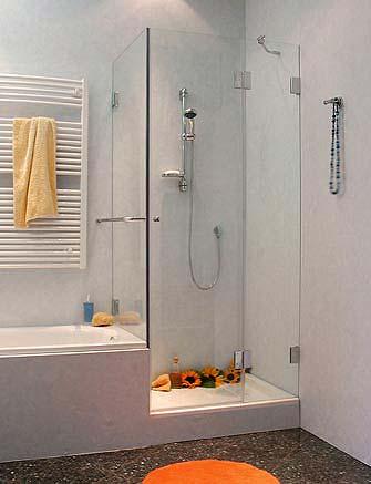a2k eck duschabtrennung verk rzte festwand glas klar. Black Bedroom Furniture Sets. Home Design Ideas