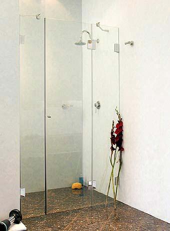 a2n nischen t ren duschabtrennung ab 110 glas klar verchromt h 195cm. Black Bedroom Furniture Sets. Home Design Ideas