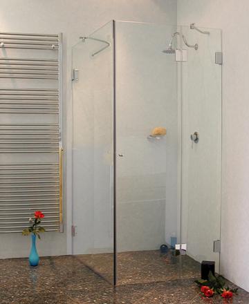 a2sx eck duschkabine festwand 120cm glas klar verchromt h 195cm. Black Bedroom Furniture Sets. Home Design Ideas