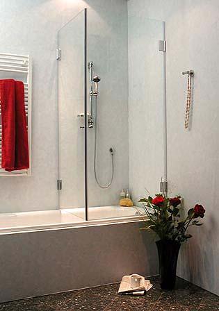 awb badewannen duschwand 2 t ren glas klar verchromt. Black Bedroom Furniture Sets. Home Design Ideas