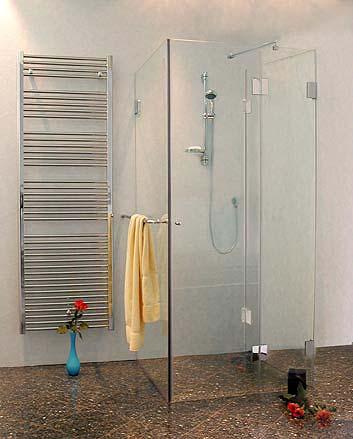bu2s b ndige dreiseitige u duschkabine glas klar verchromt h 195cm. Black Bedroom Furniture Sets. Home Design Ideas