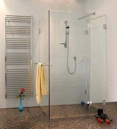 auxs b ndige dreiseitige u duschkabine glas klar verchromt h 195cm. Black Bedroom Furniture Sets. Home Design Ideas