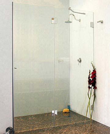 byxn nischen t ren duschabtrennung glas klar verchromt h 195cm. Black Bedroom Furniture Sets. Home Design Ideas
