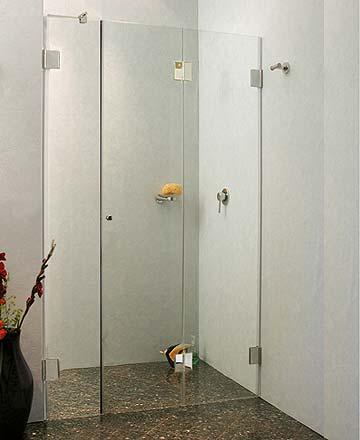 f1n nischen t ren falt duschabtrennung ab 120 glas klar verchromt h 195cm. Black Bedroom Furniture Sets. Home Design Ideas