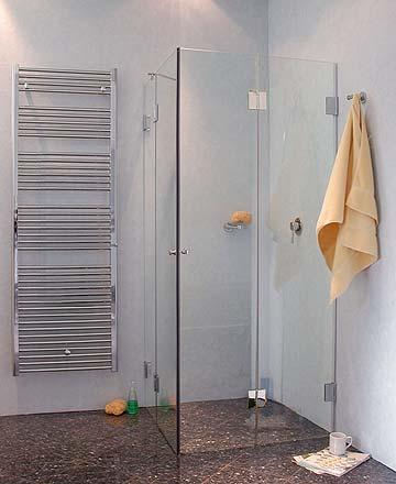 f2e eck falt duschkabine 2 t ren glas klar verchromt h 195cm. Black Bedroom Furniture Sets. Home Design Ideas