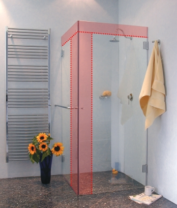 eck dusche nach ma. Black Bedroom Furniture Sets. Home Design Ideas