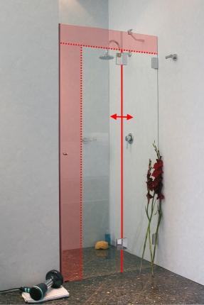 duscht r nach ma in nische aus glas rahmenlos von combia. Black Bedroom Furniture Sets. Home Design Ideas