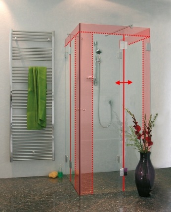 u form dusche nach ma glas eckeinstieg 2 t ren seitenwand von combia. Black Bedroom Furniture Sets. Home Design Ideas