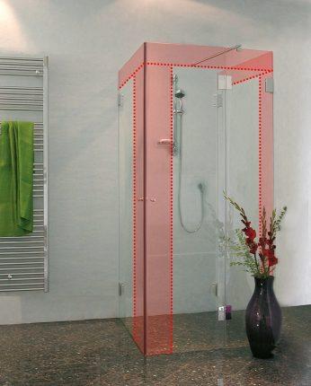 U Form Duschabtrennung Nach Mass U Dusche Im Wunschmass Von Combia