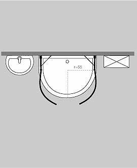 halbkreis rund duschen. Black Bedroom Furniture Sets. Home Design Ideas