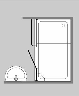 a2x nischen t ren duschabtrennung glas klar verchromt h 195cm. Black Bedroom Furniture Sets. Home Design Ideas
