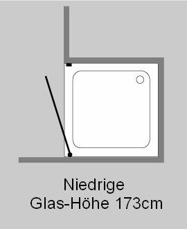 ak1n nischen t ren duschabtrennung glas klar verchromt h 173cm. Black Bedroom Furniture Sets. Home Design Ideas