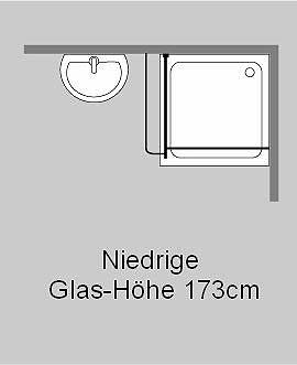 akpo duschtrennwand freistehend glas klar verchromt h 173cm. Black Bedroom Furniture Sets. Home Design Ideas