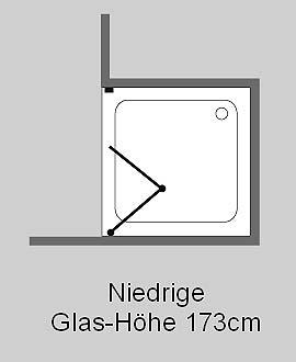 fk1n nischen t ren falt duschabtrennung glas klar verchromt h 173cm. Black Bedroom Furniture Sets. Home Design Ideas