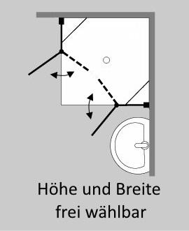 duschkabine glas im sonderma pendel schwingt ren von combia. Black Bedroom Furniture Sets. Home Design Ideas