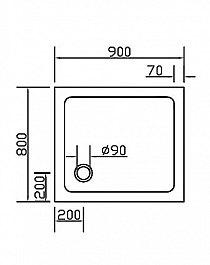 Combia Duschwanne Duschtasse superflach Weiß 120x75cm SL1275E-WS