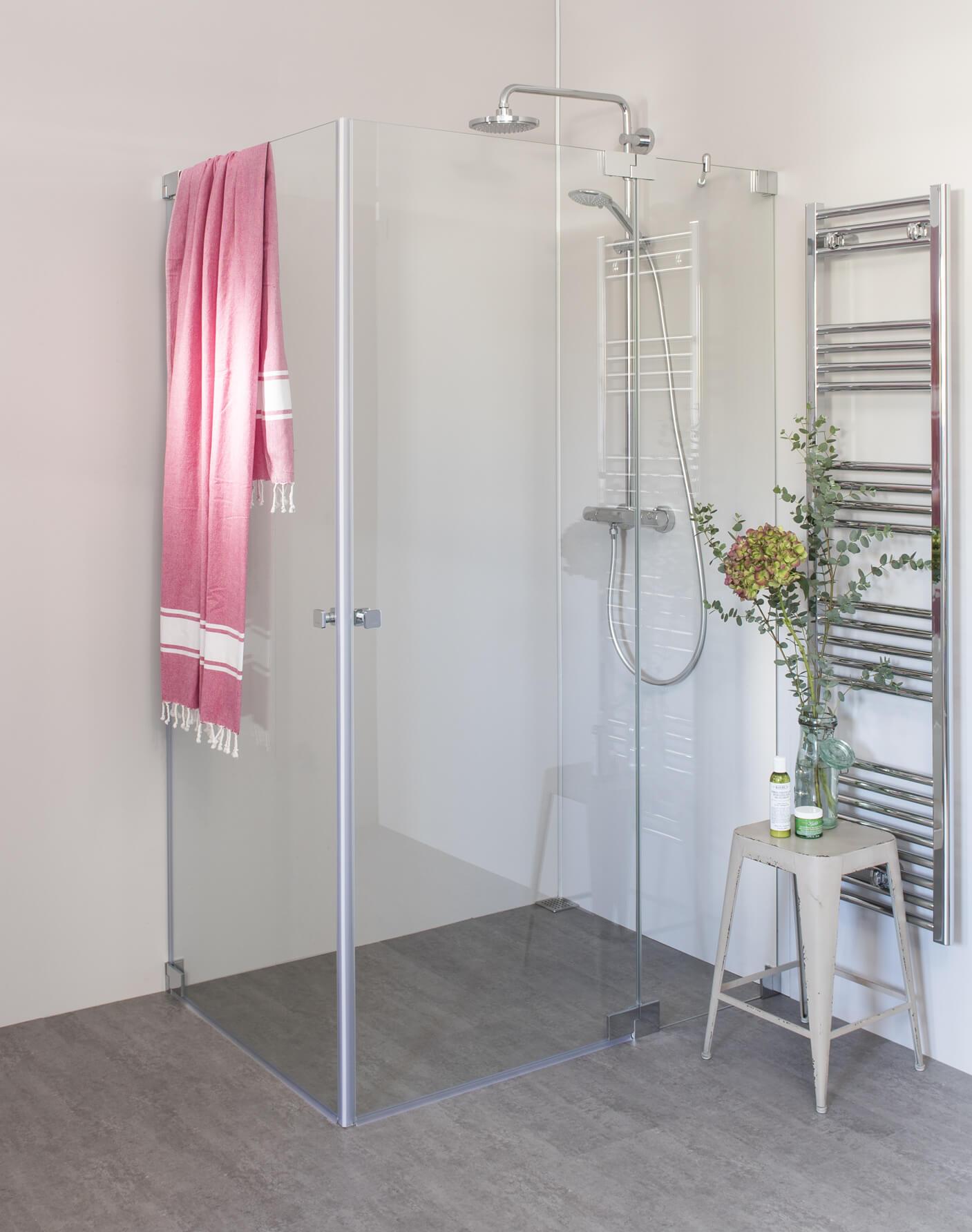 Pflegeleichte Dusche