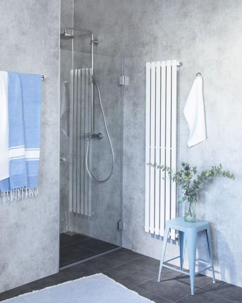 B1N, Nischen-Türen Duschabtrennung, Glas klar, verchromt, H=195cm