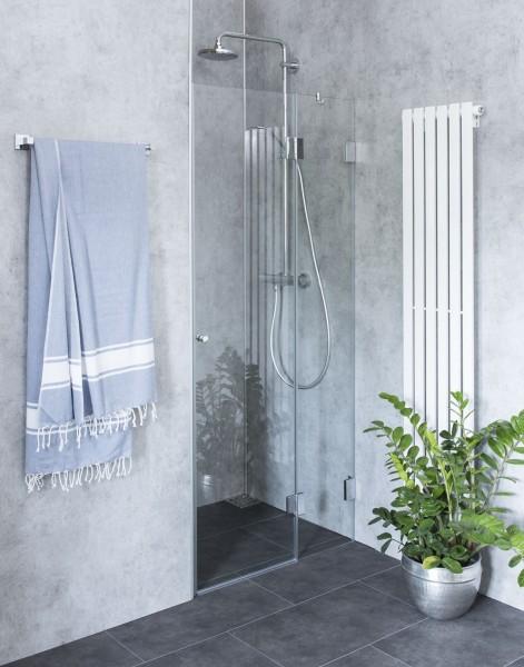 B2N, Nischen-Türen Duschabtrennung, Glas klar, verchromt, H=195cm
