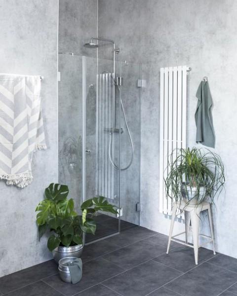 A2N, Nischen-Türen Duschabtrennung ab 100, Glas klar, verchromt, H=195cm