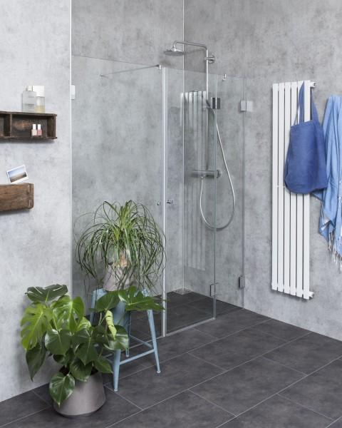 B2X, Nischen-Türen Duschabtrennung, Glas klar, verchromt, H=195cm