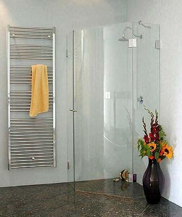 ACF, Fünfeck-Duschkabine + Innentüre, Glas klar, verchromt, H=195cm