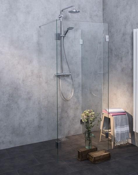 AUWO, Walk-in Duschkabine, Glas klar, verchromt, H=195cm