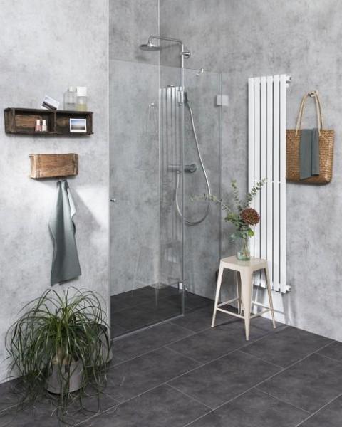 AXN, Nischen-Türen Duschabtrennung, Glas klar, verchromt, H=195cm