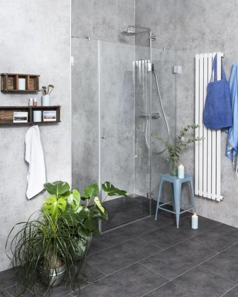 BXN, Nischen-Türen Duschabtrennung ab 120, Glas klar, verchromt, H=195cm
