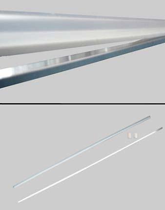 A/SLG-cr, Gerade Schwall-Leiste für Duschkabinen, hochglanzpoliert, L=112cm