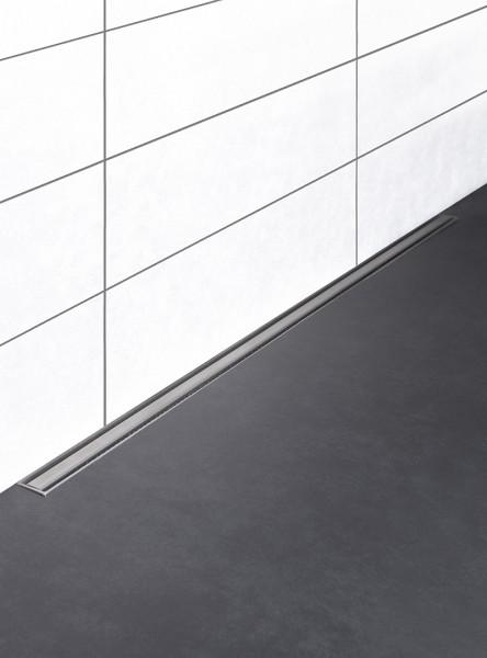 Duschrinne kürzbar, drehbarer Ablauf in der Mitte, Länge 90-160 cm