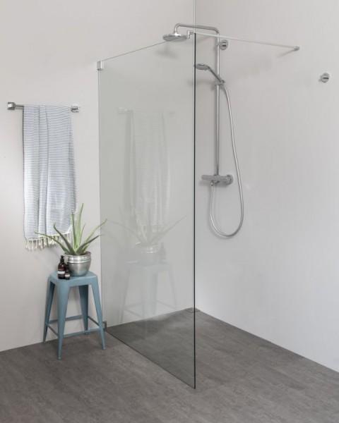 Begehbare Dusche: Freistehende Duschwand