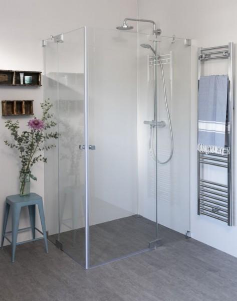 Eck Duschkabine mit 2 Pendeltüren, Sondermaße breit