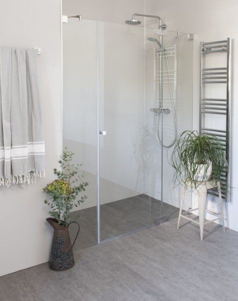 AXN, Nischen-Türen Duschabtrennung ab 120, Glas klar, verchromt, H=195cm