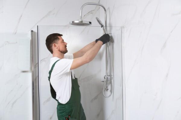AUF1, Aufmaß-Service für Dusche fertig verfliest / montagebereit