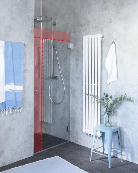 M1N, Duschtür Sonderanfertigung für Nische, Klarglas, Chrom