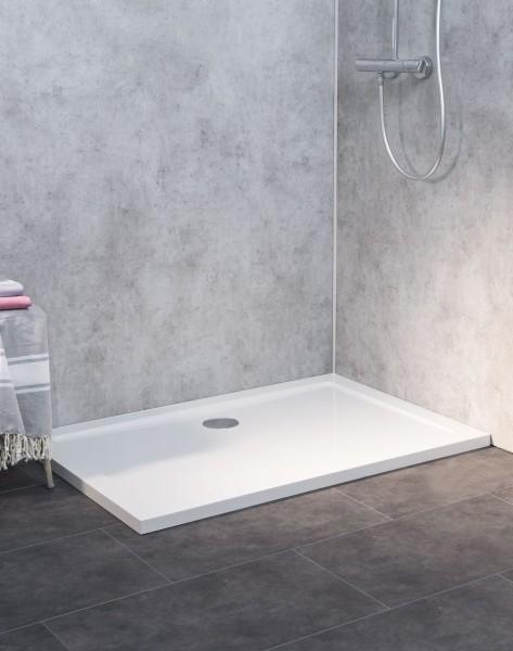 SL1480E-WS, Duschwanne Flach, Weiß, 140x80cm, H=3,5cm