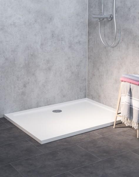 SL1290E-WS-A, Duschwanne Flach, Weiß, Anti-Rutsch, 120x90cm, H=3,5cm
