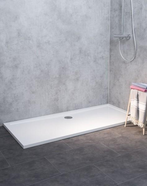 SL1690E-WS-A, Duschwanne Flach, Weiß, Anti-Rutsch, 160x90cm, H=3,5cm
