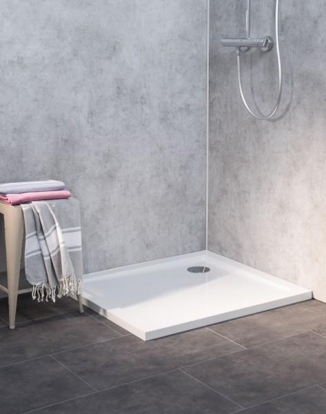 SL1080E-WS, Duschwanne Flach, Weiß, 100x80cm, H=3,5cm