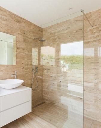 TAPO, Duschtrennwände für begehbare Dusche, rahmenlos, Glas 8mm, chrom