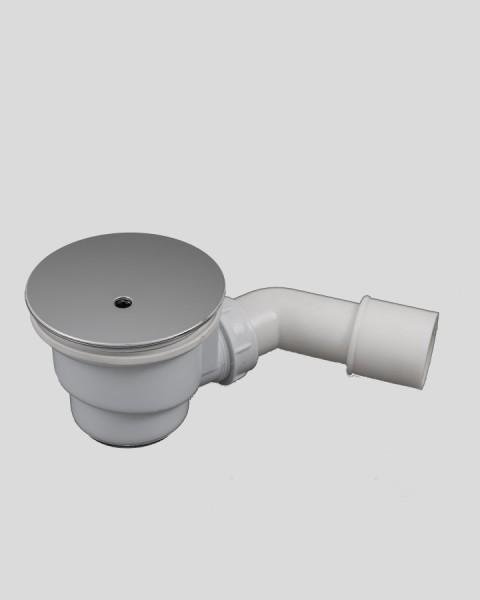WSL90-CR, Siphon Ablauf-Garnitur, chromfarben, für Duschwannen-Ablauf D=90mm