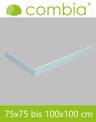 SESL1010-WS, Duschwannenschürze, weiß, Rechteck, 100 x 100cm