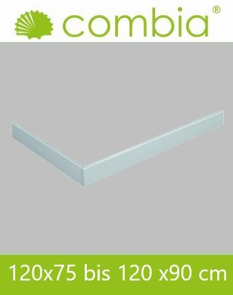 SESL1290-WS, Duschwannenschürze, weiß, Rechteck, 120 x 90cm