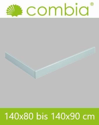 SESL1490-WS, Duschwannenschürze, weiß, Rechteck, 140 x 90cm