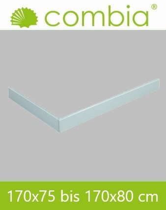 SESL1780-WS, Duschwannenschürze, weiß, Rechteck, 170 x 80cm