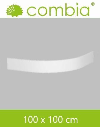 SVSL1010-WS, Duschwannenschürze, weiß, Viertelkreis, 100 x 100cm